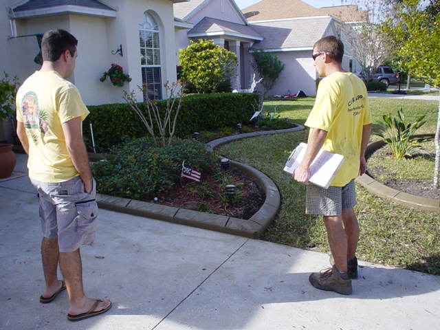 Curb appeal Curbing Professionals assessing their work done