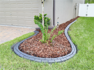 Beautifully patterned landscape curb