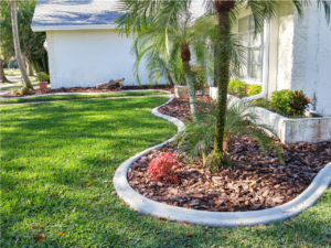 New custom landscape curbing installed in Pasco