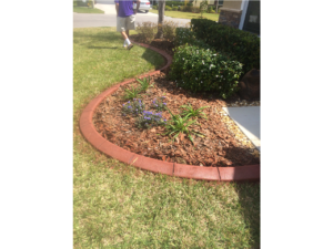 New Lawn curb installed with custom color