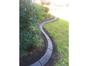 New Landscaping and Curbing installed