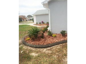 Lawn care installed at customer's house